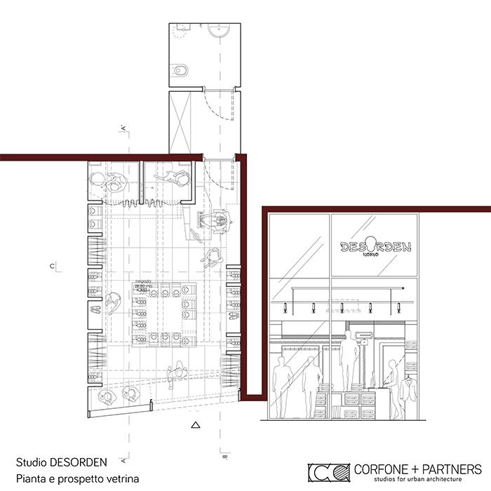 Progettazione negozio abbigliamento DESORDEN 01