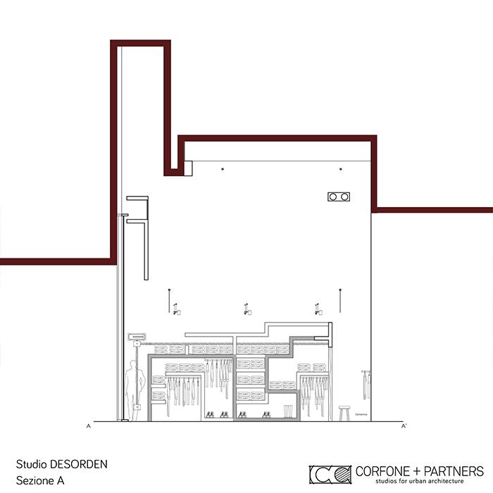 Progettazione negozio abbigliamento DESORDEN 11