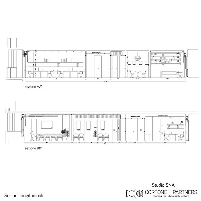 Progetto architettonico Studio SNA 17