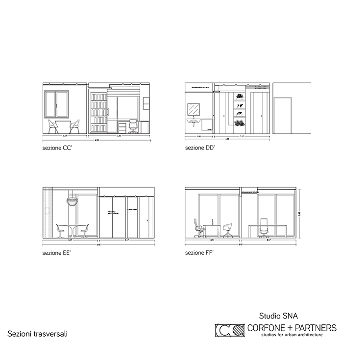 Progetto architettonico Studio SNA 18