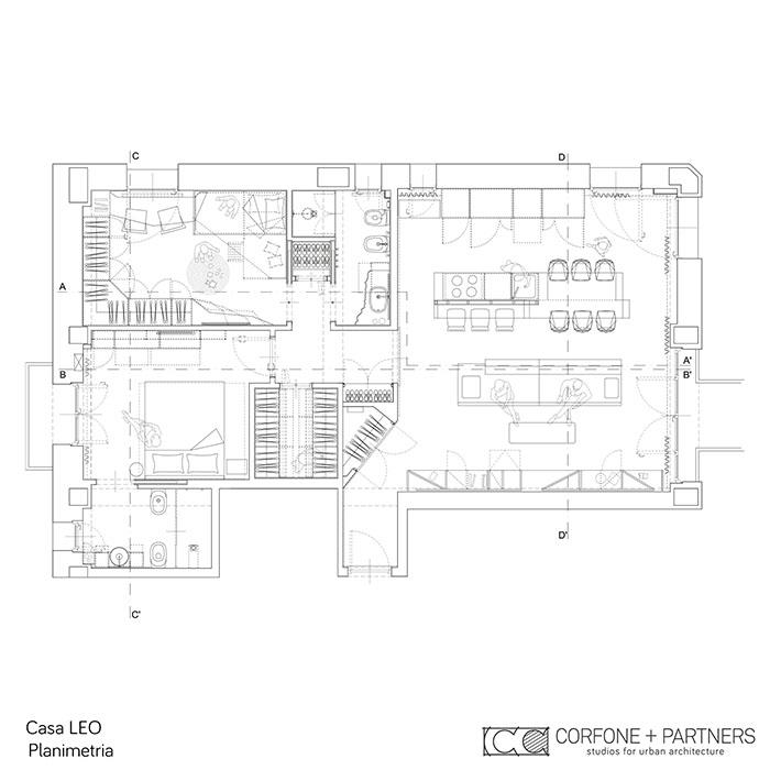 Riconfigurazione architettonica Casa LEO 01
