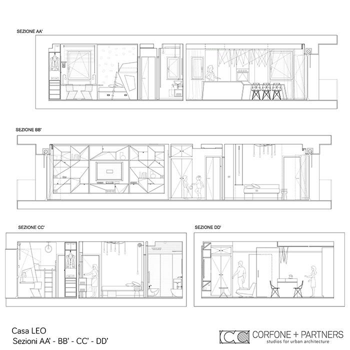 Riconfigurazione architettonica Casa LEO 02