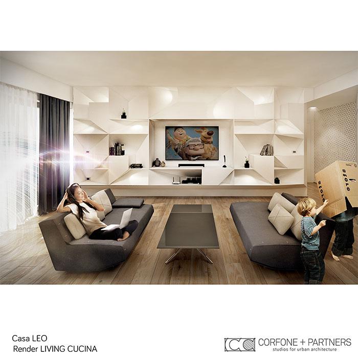 Riconfigurazione architettonica Casa LEO 03