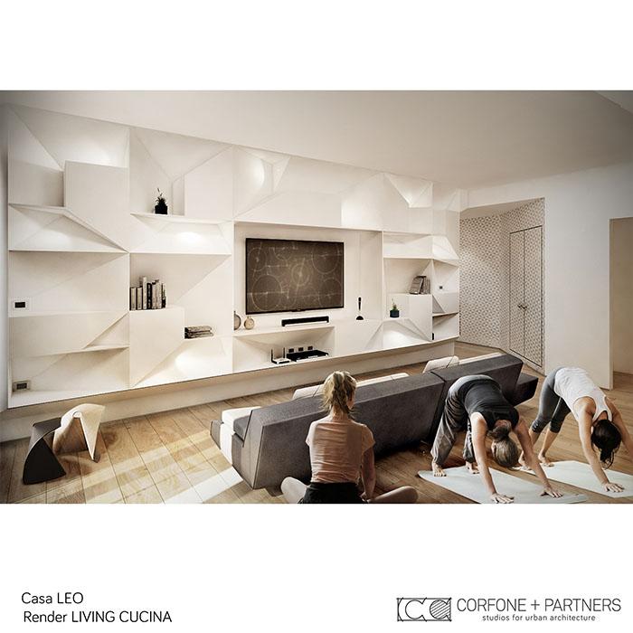 Riconfigurazione architettonica Casa LEO 05