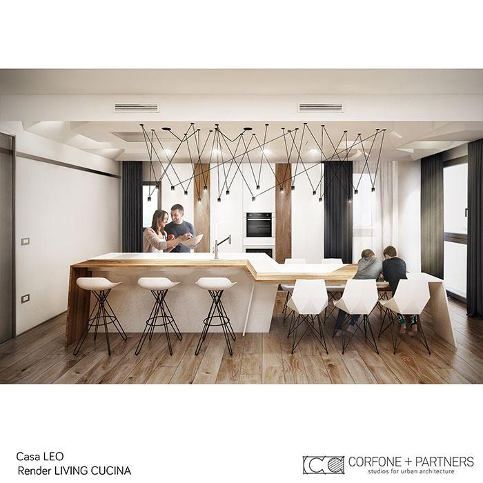 Riconfigurazione architettonica Casa LEO 06