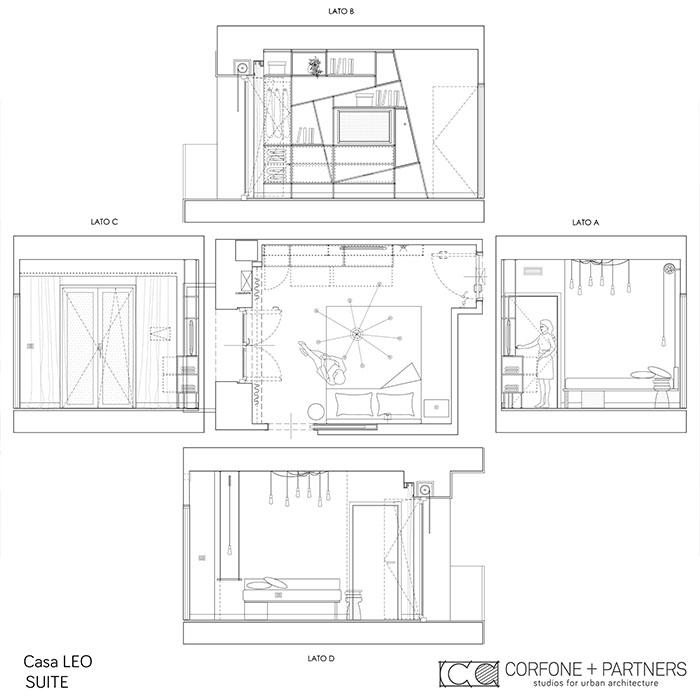 Riconfigurazione architettonica Casa LEO 09