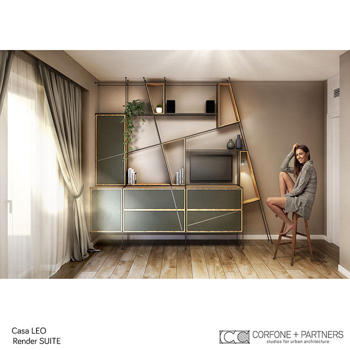 Riconfigurazione architettonica Casa LEO 11