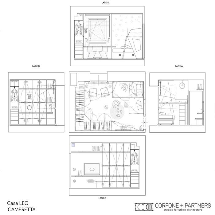 Riconfigurazione architettonica Casa LEO 13