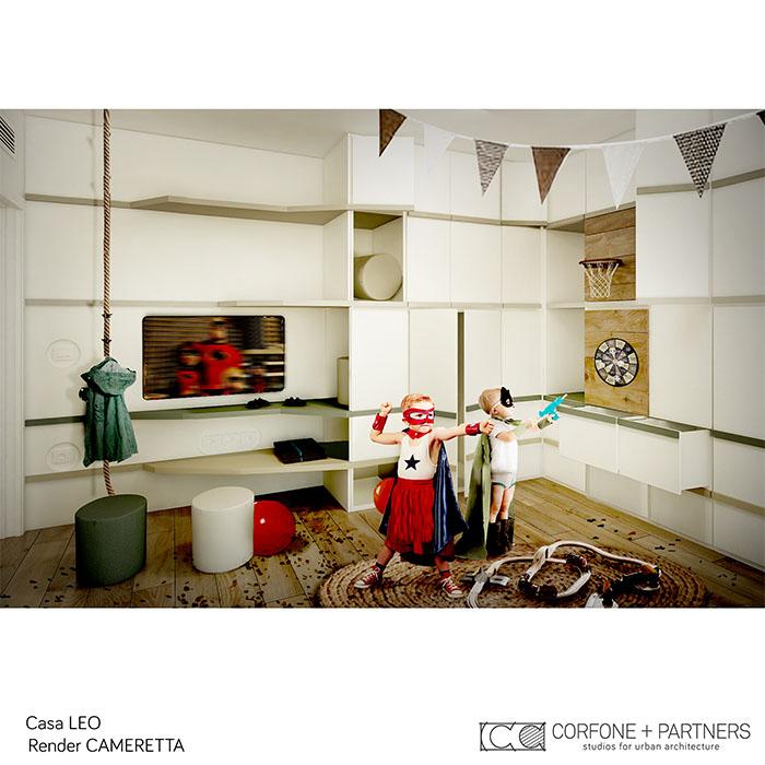 Riconfigurazione architettonica Casa LEO 14