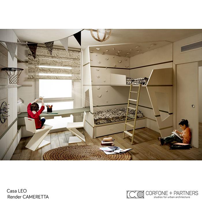 Riconfigurazione architettonica Casa LEO 16