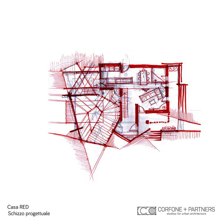 Progetto Villa rurale Casa RED a San Giovanni Rotondo 04