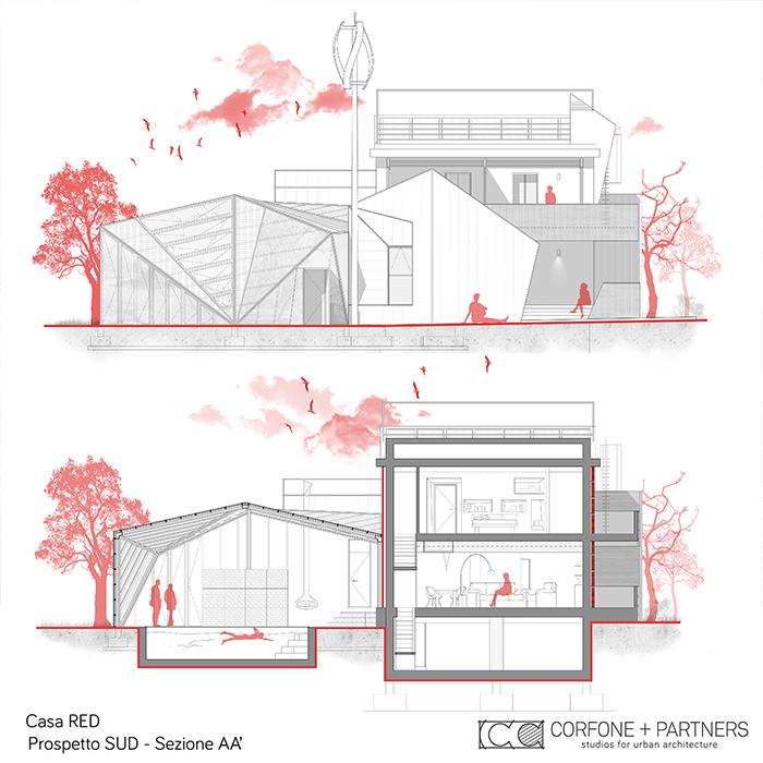Progetto Villa rurale Casa RED a San Giovanni Rotondo 12