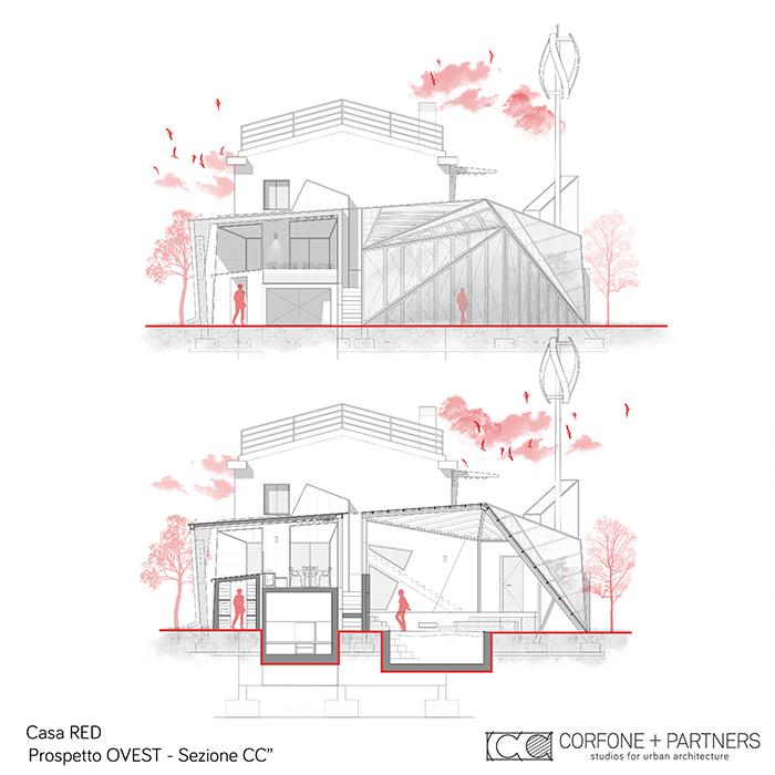 Progetto Villa rurale Casa RED a San Giovanni Rotondo 13